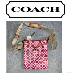 New with tags Coach pink crossbody bag